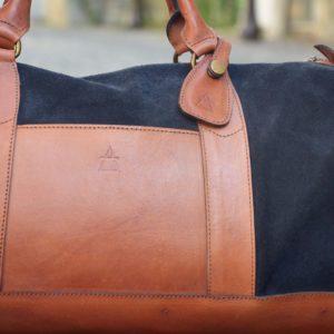 sac de voyage pachamama cuir bleu
