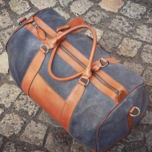 pachamama sac weekend en cuir gris