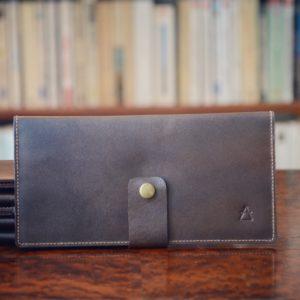 portefeuille femme marron
