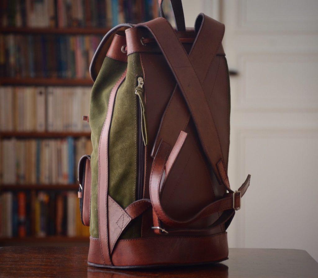 sac à dos cuir nubuck