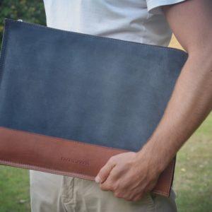 pochette ordinateur en cuir 15 pouces