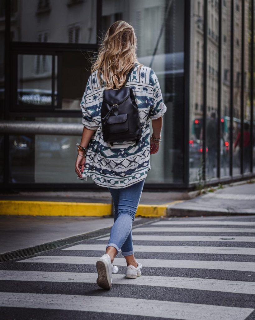 sac à dos en cuir noir femme