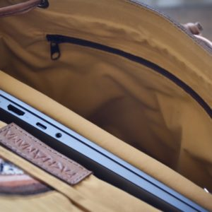 inside backpack pachamama