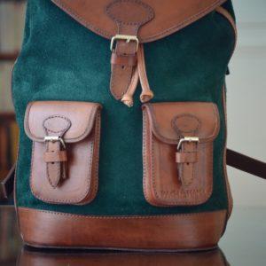 sac à dos cuir vert